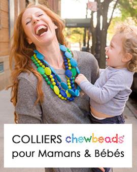 colliers silicone bébés et jeunes mamans