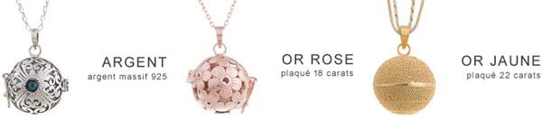 collection bijoux bolas de grossesse